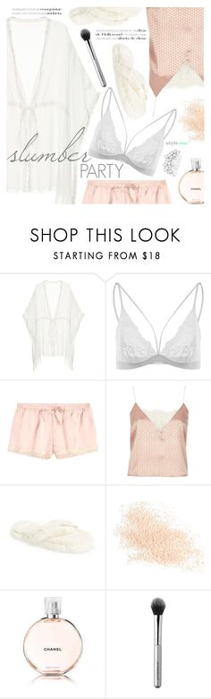 """""""Slumber Party"""" by black-fashion83 ❤ liked on Polyvore featuring River Island, Bedroom Athletics, Eve Lom, Chanel, Japonesque and Bling Jewelry"""