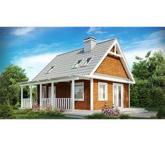 Proiect casa mansarda (P+M) ieftina, 117 mp. Pret la rosu 17550 Euro - Constructii Case din Lemn si Zidarie