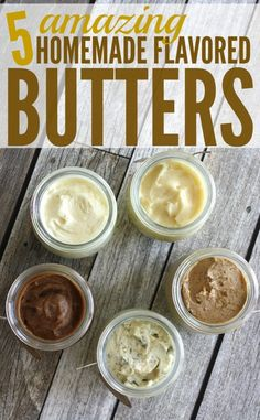 I love these 5 amazing homemade flavored butter recipes! Homemade bread and a jar of homemade butter would be a great for any occasion. Recipes for -Salted butter, honey butter, garlic butter, pumpkin spice butter & brown sugar cinnamon honey butter. Cinnamon Honey Butter, Salted Butter, Vegan Butter, Pecan Honey Butter Recipe, Easy Butter Recipe, Butter Mochi, Brown Butter Sauce, Whipped Butter, Flavored Butter