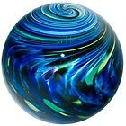 Large Blueberry Onion skin Art-Glass Marble by Mark Matthews Marbles For Sale, Marble Board, Marble Games, Glass Marbles, Glass Paperweights, Glass Ball, Glass Ornaments, Colored Glass, Stained Glass