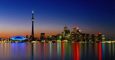 Skyline with #CNTower #Toronto #Canada