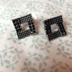 Black square earrings Black square earrings Jewelry Earrings