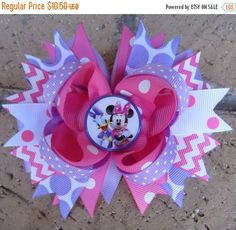 SALE Daisy Duck Minnie Mouse Inspired Custom by AddisonsBowtique