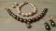 #south sea pearls#tahiti pearl#silver antique finish#bracelet#earrings