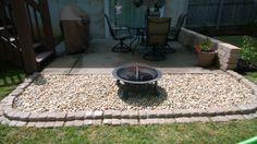 Fire pit area off patio