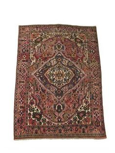 Woolley and Wallis - Bakhtiari rug, west Persia, 116 x 81.5in (294.5 x 207cm).