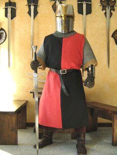 Medieval Knight Heraldry SCA Surcoat Tunic Tabard.