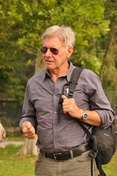 Harrison Ford visits the Orangutan conservation while filming a documentary. Hopefully he can help more people understand the dangers around deforestation and the destruction is causes to Orangutan habitats. Indiana Jones, Actors Male, Actors & Actresses, Harison Ford, Years Of Living Dangerously, The Expendables, Hollywood Actor, American Actors, Artists