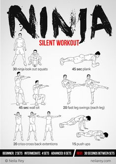 Ninja Workout fitness, workout, exercise, routine, training, toning up, strengthening #fastsimplefit  Get Free Fitness and Weight Loss News and Tips by Liking Us on: www.facebook.com/FastSimpleFitness