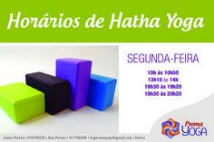 HORÁRIOS DE HATHA YOGA À SEGUNDA-FEIRA