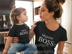 Mommy And Me Shirt, Mommy And Me Outfits, Mama Shirt, Mother Daughter Matching Shirts, Boss Shirts, Unique Baby, Cool Baby Stuff, Funny Babies, Trending Outfits