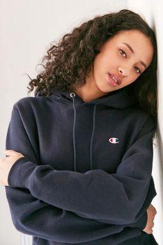 #Woman wearing a #hoodie.