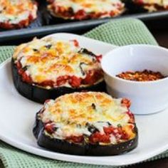 I love this recipe for Julia Child's Eggplant Pizzas made on a base of roasted eggplant and they're low-carb, gluten-free, and meatless!