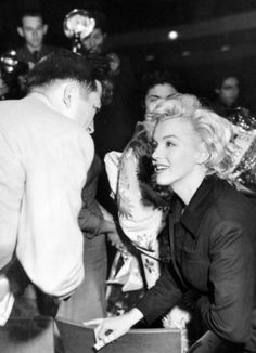 Marilyn Monroe photographed while on her honeymoon with Joe DiMaggio in Japan, February 1954.