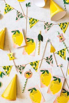 (1) Lemon Birthday Suite, PDF Printable – The House That Lars Built Rainbow Birthday Party, Rainbow Theme, Birthday Diy, First Birthday Parties, Birthday Party Decorations, Paper Flower Garlands, Paper Flowers, Child Plan, Indoor Garden Party