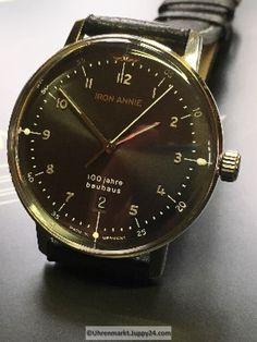 100 jahre bauhaus Quarz Stahluhr 40mm 5 atm - Quartz Armbanduhren - Bauhaus, Omega Watch, The 100, Quartz, Accessories, Leather Cord, Bracelet Watch, Jewelry Accessories