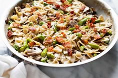 Mushroom and  Asparagus One-Pot Pasta