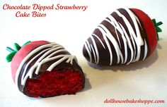 Red Velvet Cakeberries (chocolate dipped strawberries) Love!