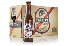 Packaging design by Nine for Swedish pilsner Falcon