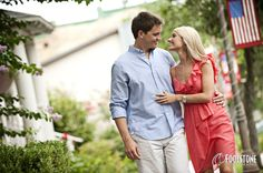 Engagement Session in downtown Alachua, FL