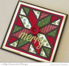 A Paper Melody: MFT's November Release Countdown Day 4 - Cozy Quilt