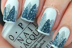 60+ Best Christmas Nail Art Ideas