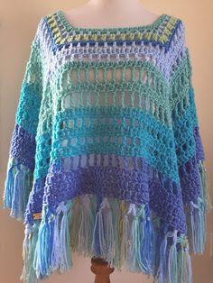 Moon and Ocean Hawaii: Ocean color Knit Or Crochet, Crochet Scarves, Crochet Clothes, Crochet Stitches, Crochet Hooks, Crochet Shawls And Wraps, Crochet Fashion, Crochet Accessories, Hawaii Ocean