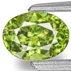 0.75-Carat Vivid Neon Green Eye-Clean Demantoid Garnet