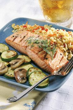 Grilled Salmon with Citrus-Dill Butter:  Fresh dill and tangy lemon spread for grilling salmon!