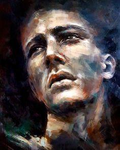 Original Painting. Acrylics on deep edge canvas .90x120cm Acrylic Portrait Painting, Lonely, Norway, Original Paintings, Fine Art, The Originals, Canvas, Acrylics, Deep