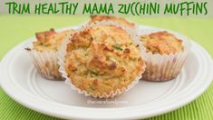 These delicious Trim Healthy Mama Zucchini Muffins are sugar-free and gluten-free for a delicious, good-for-you breakfast.