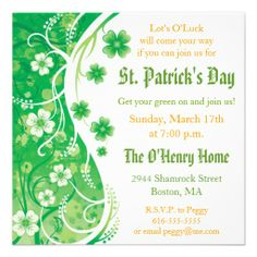 10 best st patrick s day invitations images on pinterest patrick