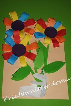 Kwiaty w kolorach tęczy | Kreatywnie w domu