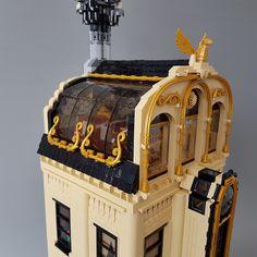 LEGO -The Wyvernstone family mansion Steampunk Lego, Lego Table Ikea, Lego Studios, Lego Village, Amazing Lego Creations, Lego Pictures, Lego Craft, Lego Modular, Lego Room