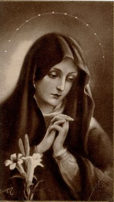 """Mary answers: """"Behold the handmaid of the Lord. Be it done unto me according to your word."""""""
