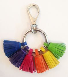Rainbow Grigri 2014/2015 Leather tassels, metallic ring and dog hook