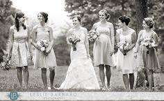 Fun black & white bridesmaid photo at Lehigh Valley wedding by Philadelphia & Delaware wedding photographer Leslie Barbaro|bridesmaids wedding photography