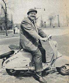 Burl Ives on a Lambretta! Mechanix Illustrated December 1954.