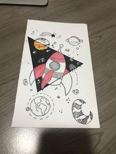 Tumblr Drawings, Art Drawings Sketches, Easy Drawings, Pencil Drawings, Marker Drawings, Hipster Drawings, Space Drawings, Art Sketchbook, Doodle Art