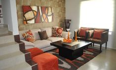 Trendy Wohnzimmer Dekor Orange Grau - New Ideas Camo Living Rooms, Living Room Decor Orange, Living Room Paint, Living Room Colors, New Living Room, Home And Living, Living Room Designs, Living Room Windows, Living Room Ideas