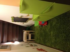 Wasted space under the stairs turned into a playroom.
