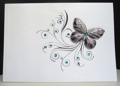 Drew me right in-love it! Love the use of the earring!  WORKSHOP OF MEMORIES: BUTTERFLY-curls swirls of butterfly