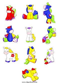 LE - Patchy Horses baby bedroomfree vector clipart designs for digitizers textile and fashion designers
