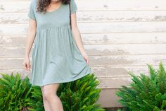 DIY Easy Babydoll Summer Dress (with free Pattern) - size S