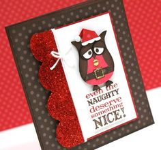 Stampin Up Owl Punch Christmas card