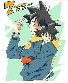 Daddy Goku and his baby boy ♡^^ Dragon Ball Z, Dragon Ball Image, Gohan And Goten, Goku And Chichi, Son Goku, Special Characters, Cool Posters, Anime Characters, Animation