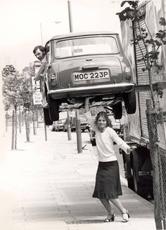 Lindsay Wagner, the Bionic Woman.  The steel beam should have been Photo-shopped out though, don't you think! :-)