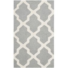 Sugar Pine Hand-Tufted Silver/Ivory Area Rug
