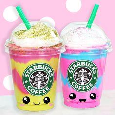 Starbucks Unicorn Frappuccino   Mermaid Slime