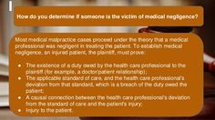 How to determine if someone is victim of medical malpractice?